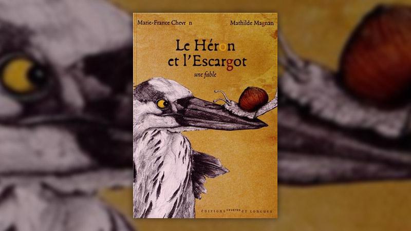 Marie‐France Chevron‐Zerolo, Le Héron et l'Escargot, une fable