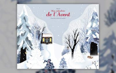 Françoise de Guilbert et Lucie Brunellière, Mon calendrier de l'Avent – A qui sont ces traces sur le chemin?